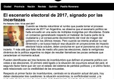 Columna de Roberto Chiti para Noticias Urbanas