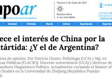 Columna de opinión en Tiempo Argentino