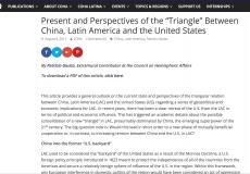 Paper de Patricio Giusto para el Council on Hemispheric Affairs