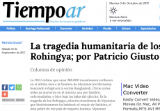 Patricio Giusto analiza la masacre a los Rohingya en Myanmar