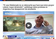 Roberto Chiti fue entrevistado por la cadena colombiana NTN24