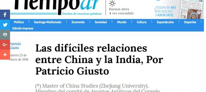 Las difíciles relaciones entre China y la India