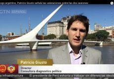 Entrevista de Patricio Giusto en CGTN