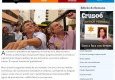 Entrevista para la revista Crusoé