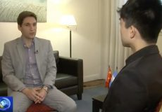 Entrevista de CGTN a Patricio Giusto