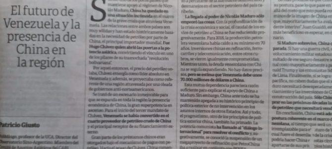 Columna de Patricio Giusto en la edición dominical Clarín