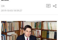 Patricio Giusto en la Radio Internacional de China