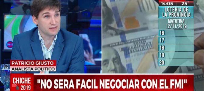 Patricio Giusto en Crónica TV, analizando el nuevo gobierno argentino
