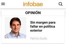 Columna de Patricio Giusto en Infobae