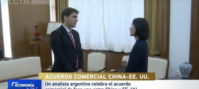 Patricio Giusto entrevistado en CGTN