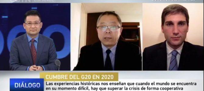 Entrevista a Patricio Giusto en CGTN