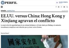 Columna en el diario Perfil sobre Hong Kong y Xinjiang