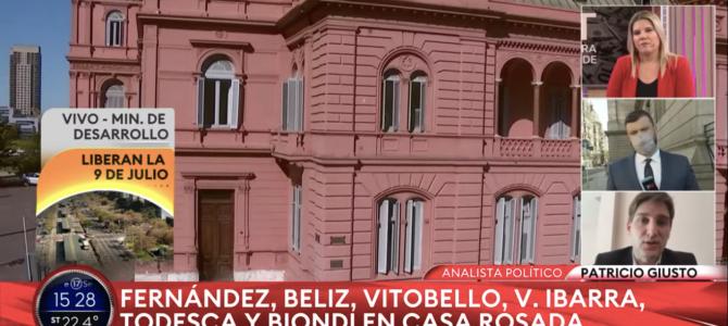 Patricio Giusto analizó la crisis del gobierno en Todo Noticias
