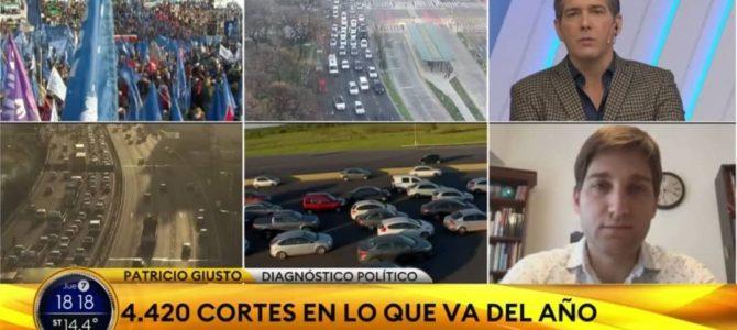 Patricio Giusto dialogó con TN sobre la escalada de conflictividad social en Argentina